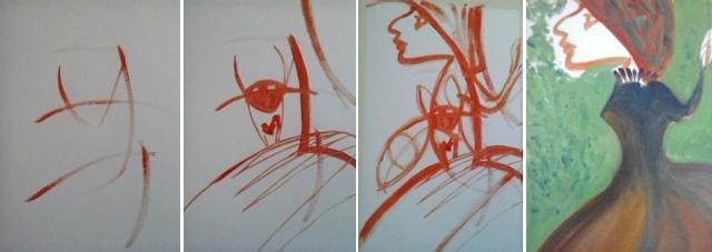prove di improvvisazione con colori ad olio_scuola comics